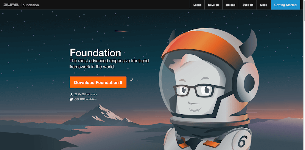 Foundation The most advanced responsive front end framework in the world.