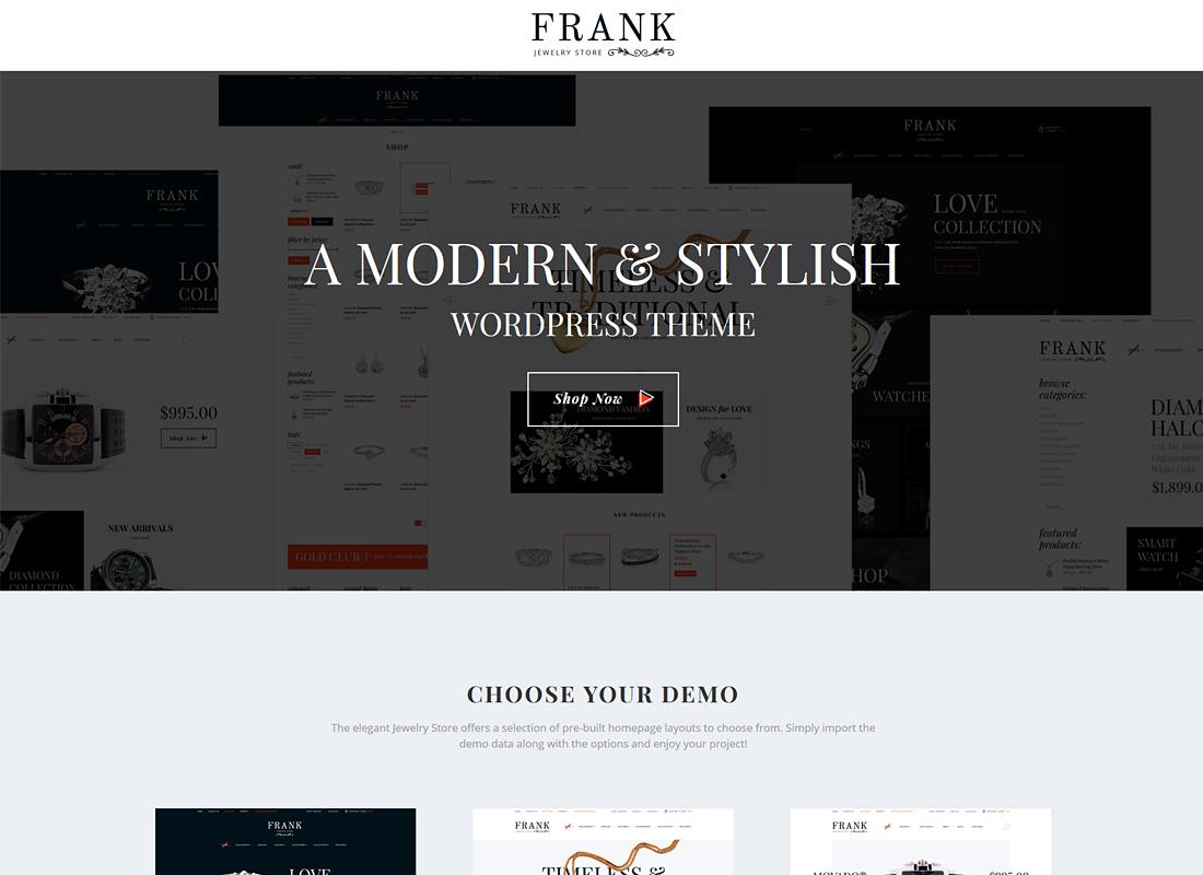 Jewelry & Watches - Online Store WordPress Theme