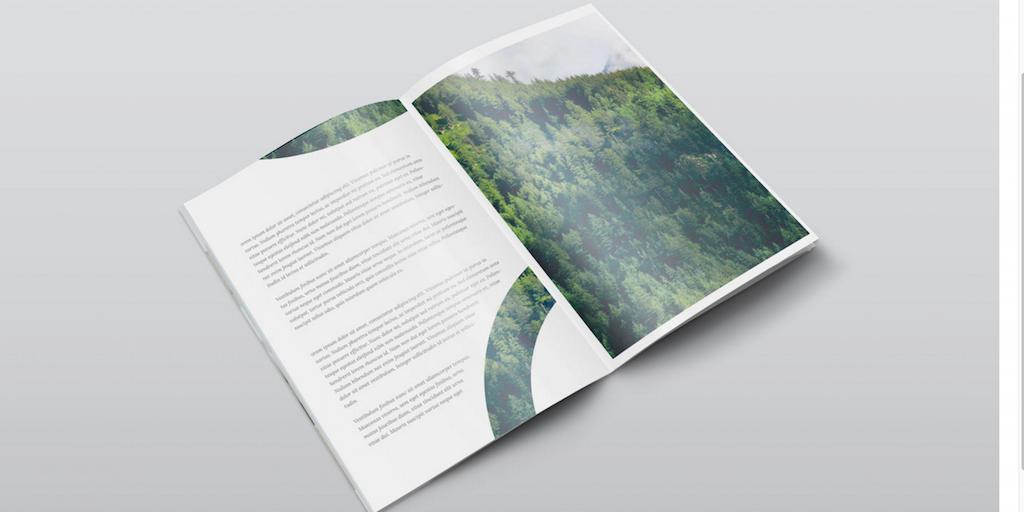Vista isométrica gratuita de la maqueta de la revista PSD A4