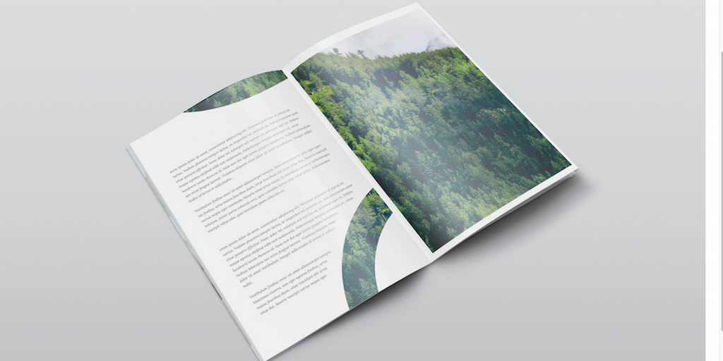 Free A4 PSD Magazine Mockup Isometric View
