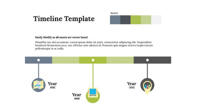 Top Free Templates For Apple Keynote Colorlib - Template of a timeline