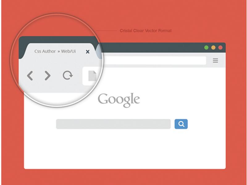 Free Chrome Browser Mockup Design Template