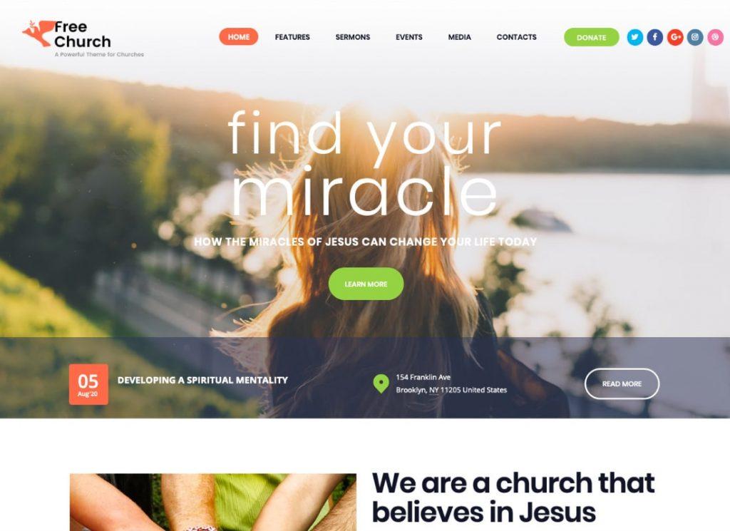 Free Church | Religion & Charity WordPress Theme