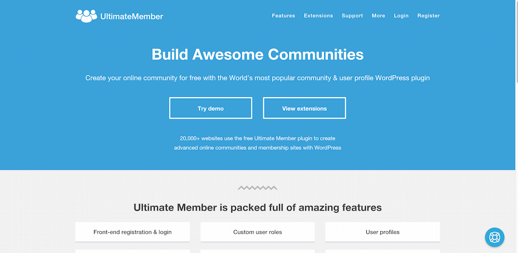 Free Community User Profile WordPress Plugin Ultimate Member