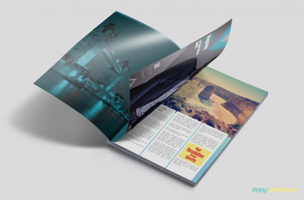 Maqueta de revistas:  Maqueta PSD de anuncio de revista personalizable gratuita
