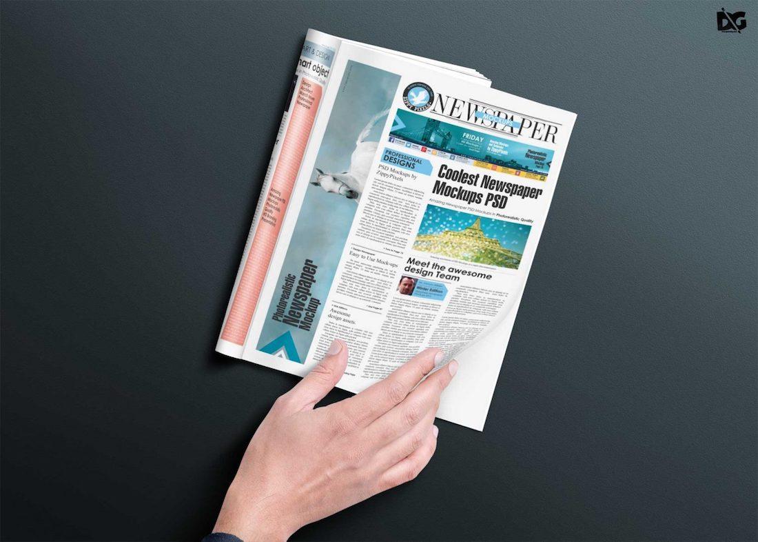 Free Download Magazine PSD Mockup