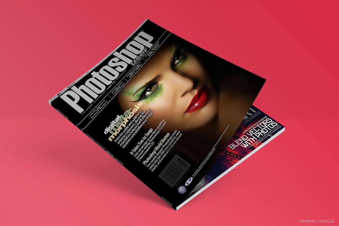 Free Flat Magazine Mock up PSD