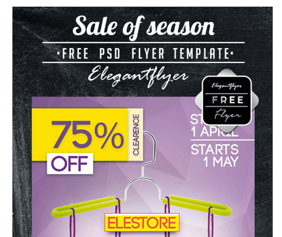 Free Flyer for Seasonal Store Sales