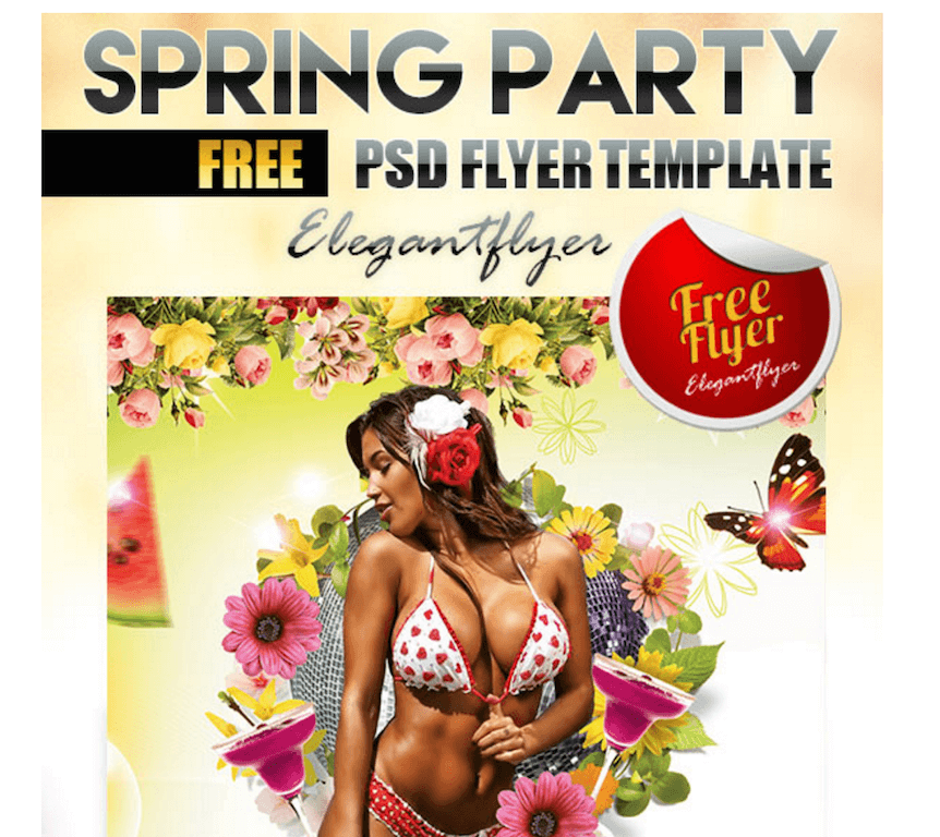 Free Flyer for Spring Parties