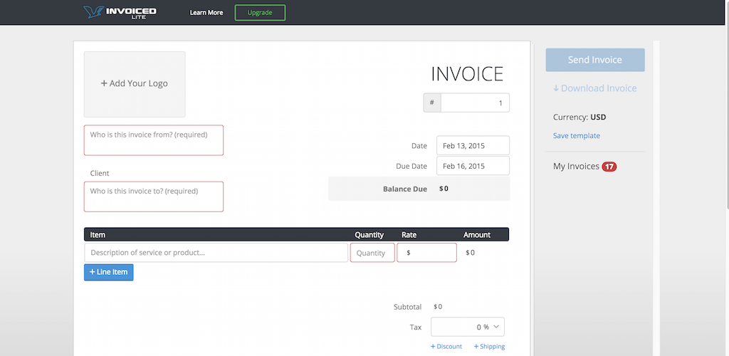 Top Free Invoice Tools For Small Businesses And Freelancers - Free online invoice generator for service business