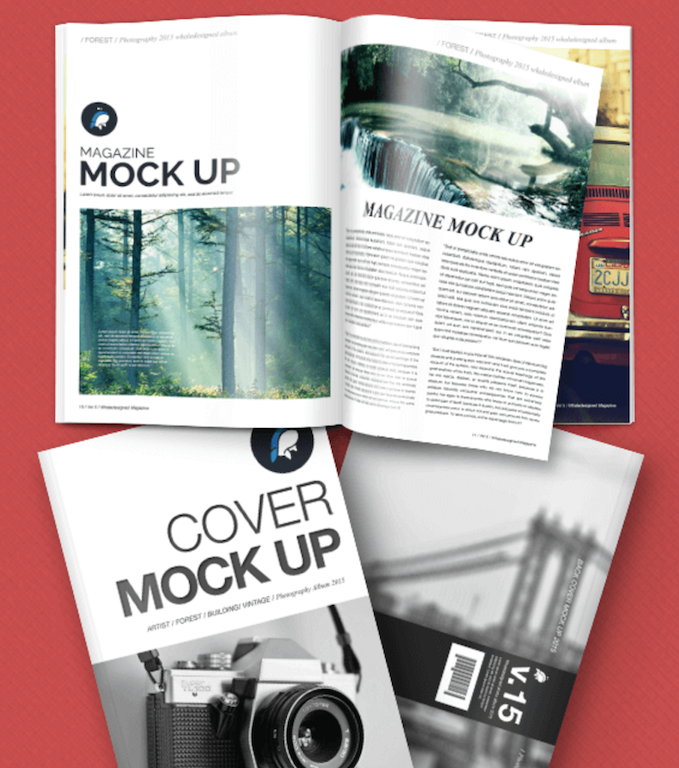 Top 33 magazine psd mockup templates in 2018 colorlib for Magazine cover page template psd
