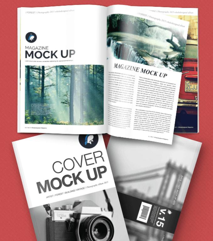 Free Mockup - Magazine + Cover