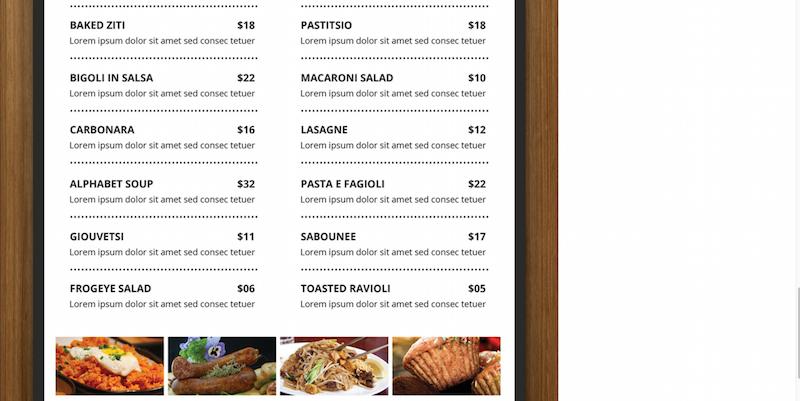 Free Restaurant Menu : Flyer PSD Template