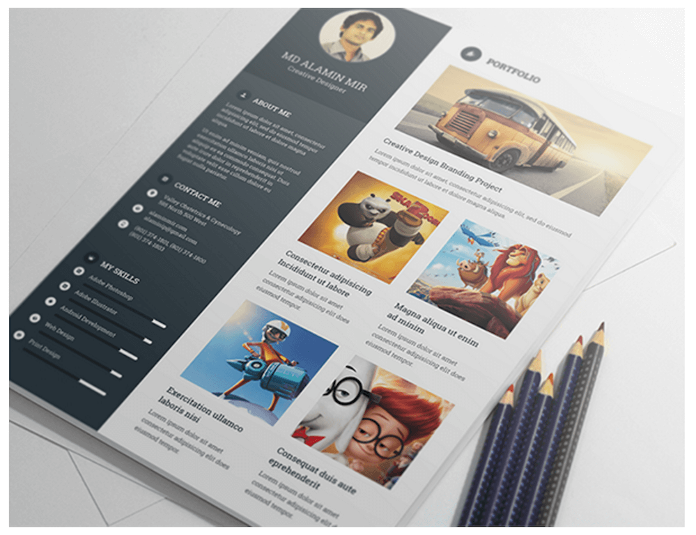 Best Free Resume Templates In PSD And AI 2019