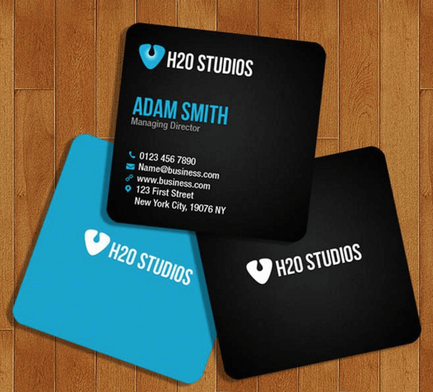 free square business card template on behance - Square Business Card Size