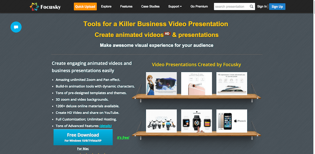 Free Video Presentation Software Animated Video Maker and PowerPoint alternative Focusky