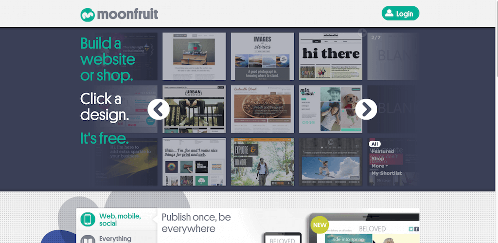Free Website Builder Make Your Own Website Moonfruit