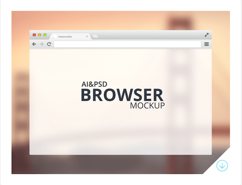 Freebie - Browser Mockup