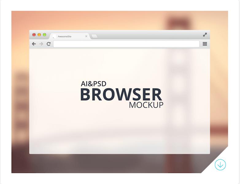 Freebie - Browser Mockup