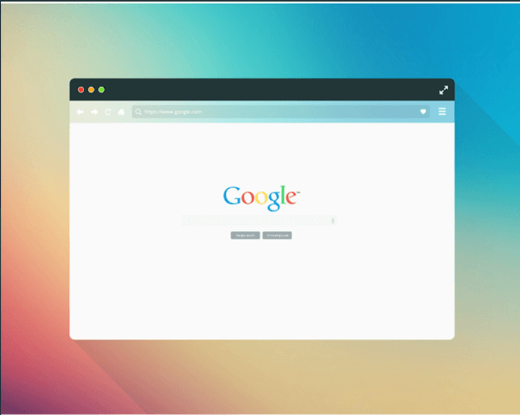 Freebie - Flat Browser Mockup