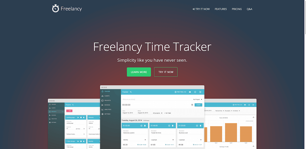 Freelancy Time Tracking and Invoicing Software