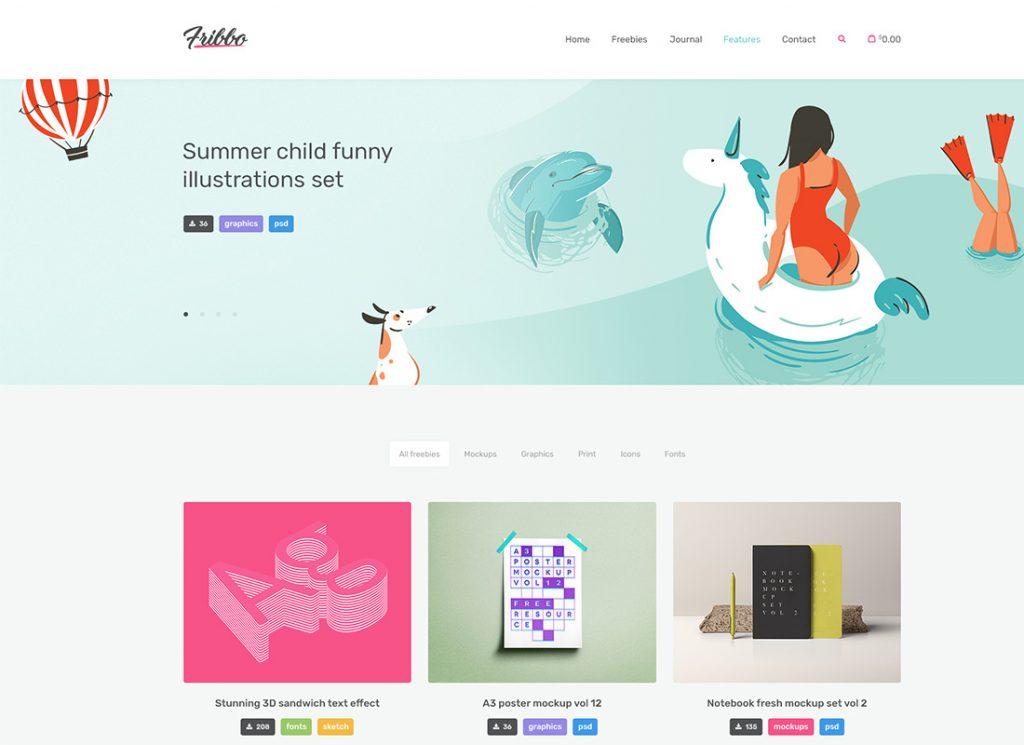 Fribbo | Freebies Blog WordPress Theme