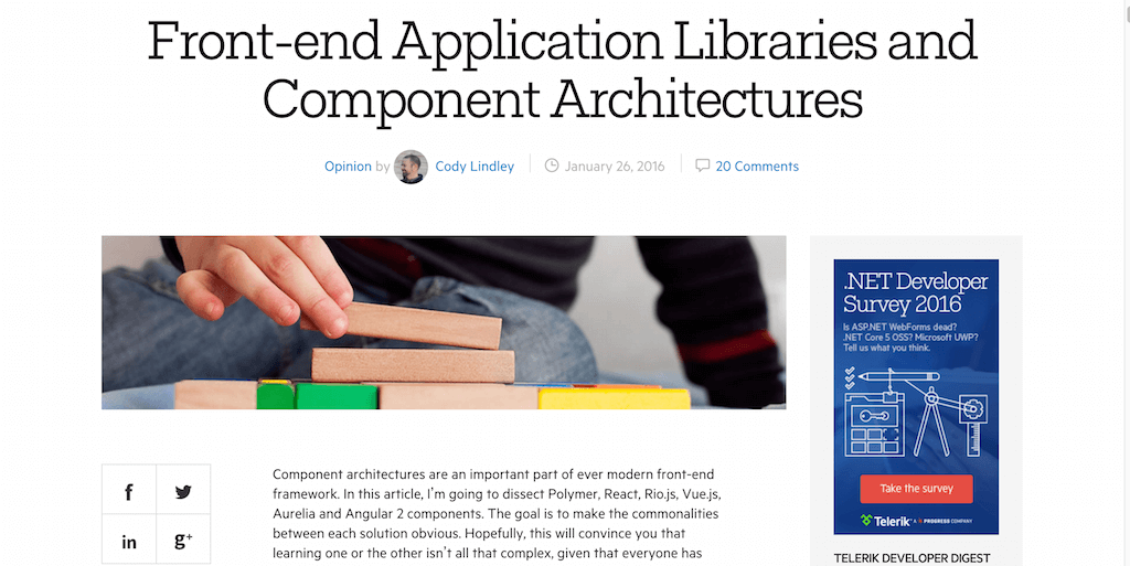 Front end Application Libraries and Component Architectures Telerik Developer Network