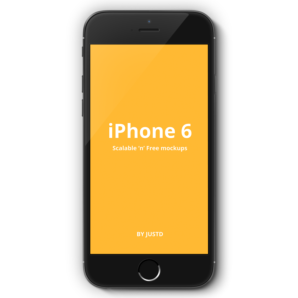 Free PSD iPhone 6 Mockup Front View