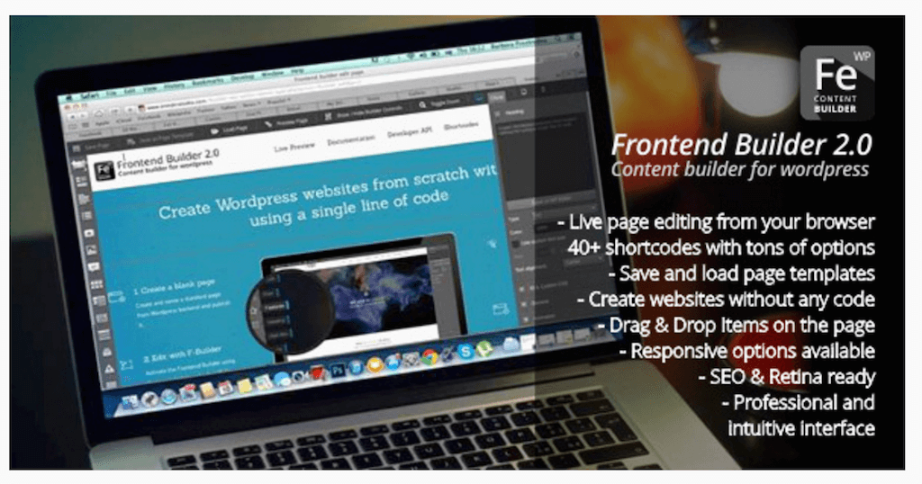 Frontend Builder WordPress Content Assembler Page Builder Drag Drop Page Composer WordPress