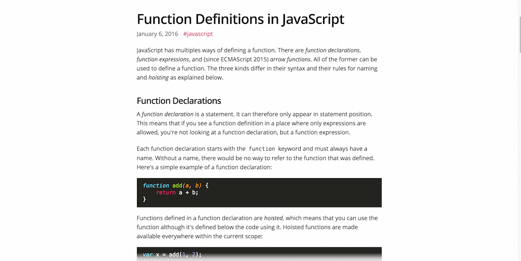Function Definitions in JavaScript – Marius Schulz