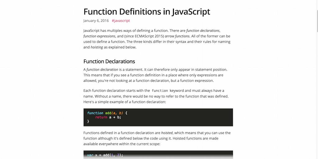 Function Definitions in JavaScript – Marius Schulz