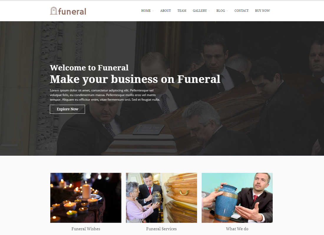 Funeral Service - Funeral Home WordPress Theme