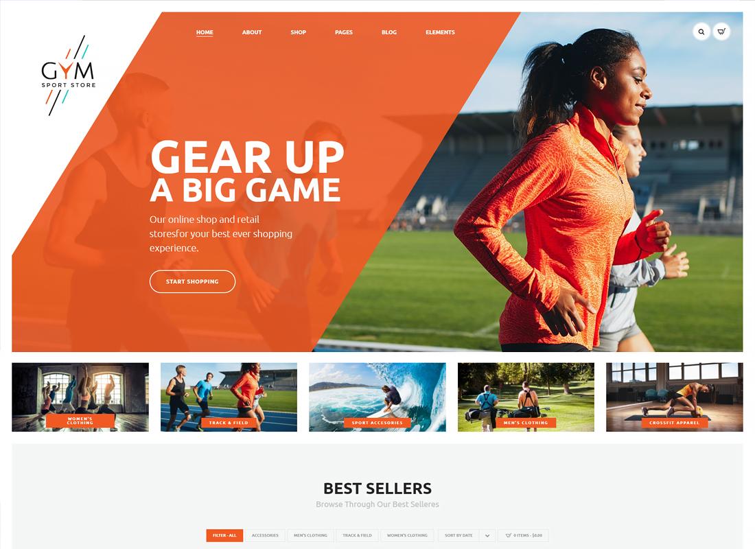GYM | Sports Clothing & Equipment Store WordPress Theme