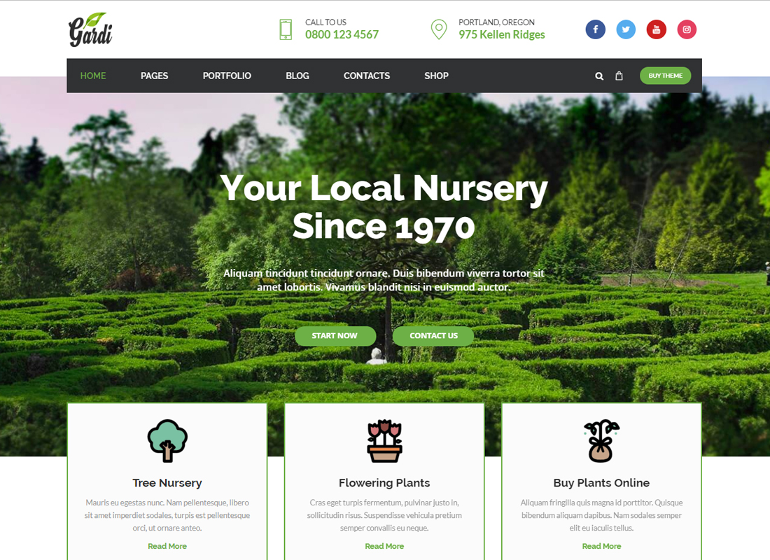 Gardi - Gardening and Landscaping WordPress Theme