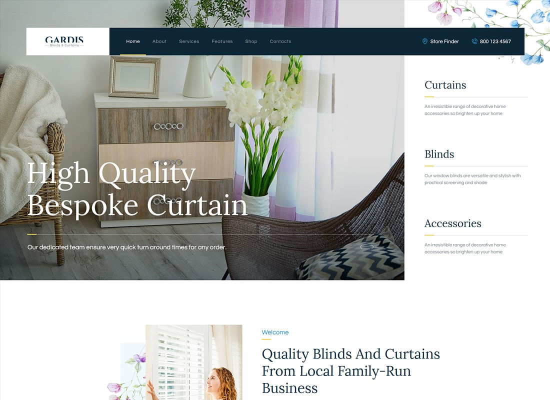 Gardis | Blinds and Curtains Studio & Shop Luxury WordPress Theme