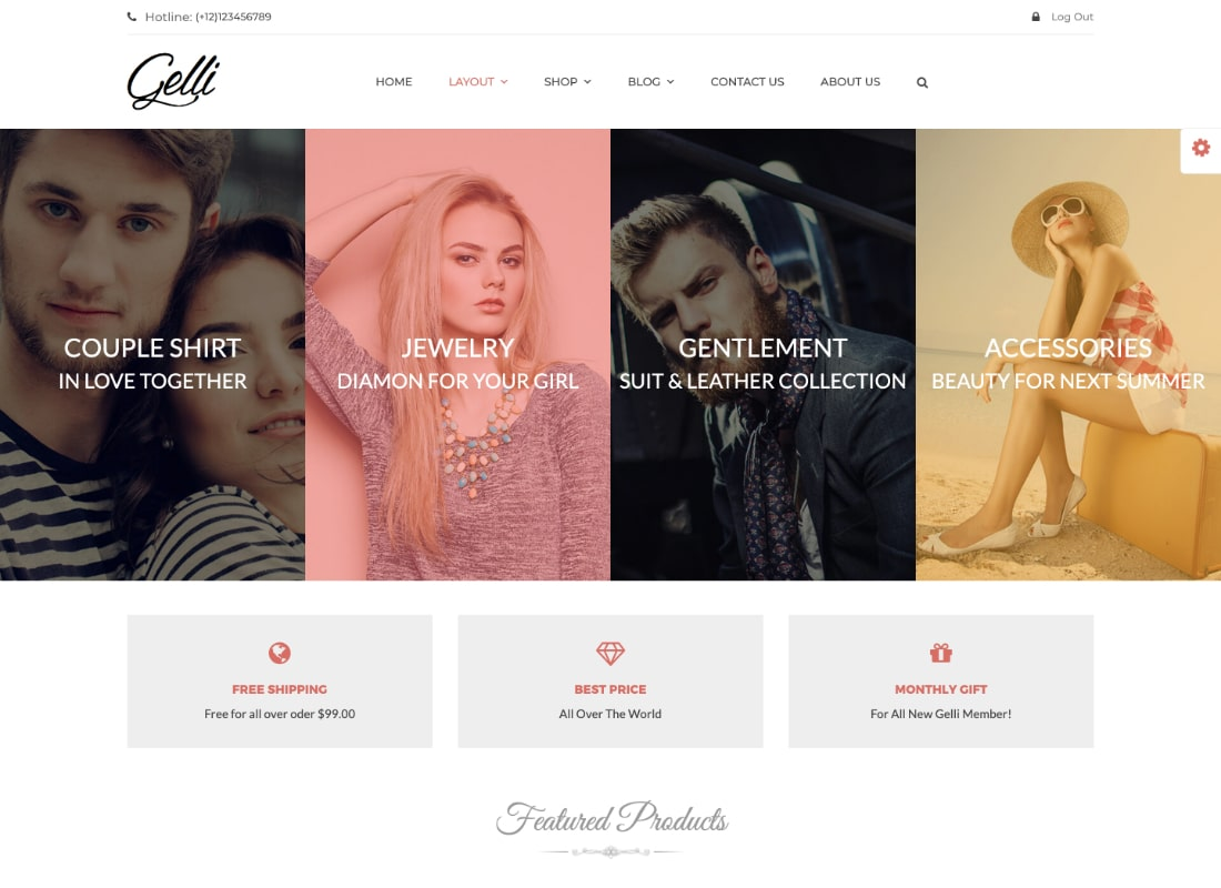 Gelli | WooCommerce Theme for Jewelry / Perfume / Accessories / Handmade Store