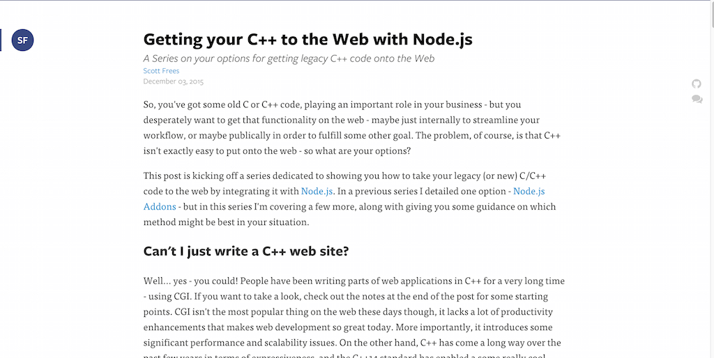 Getting your C++ to the Web with Node.js