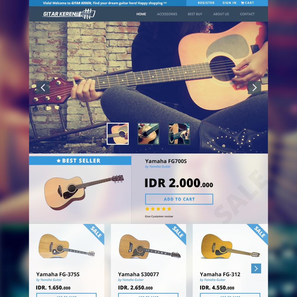 Gitar Keren Free PSD eCommerce Template