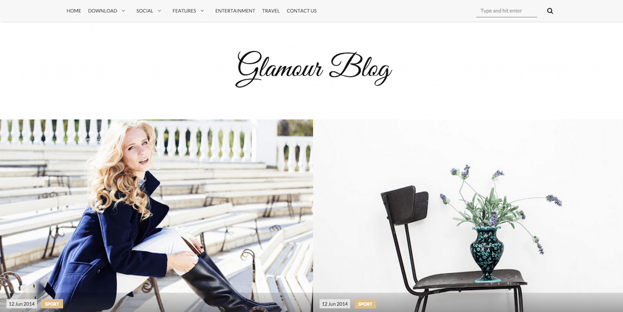 Glamour Blogger Template