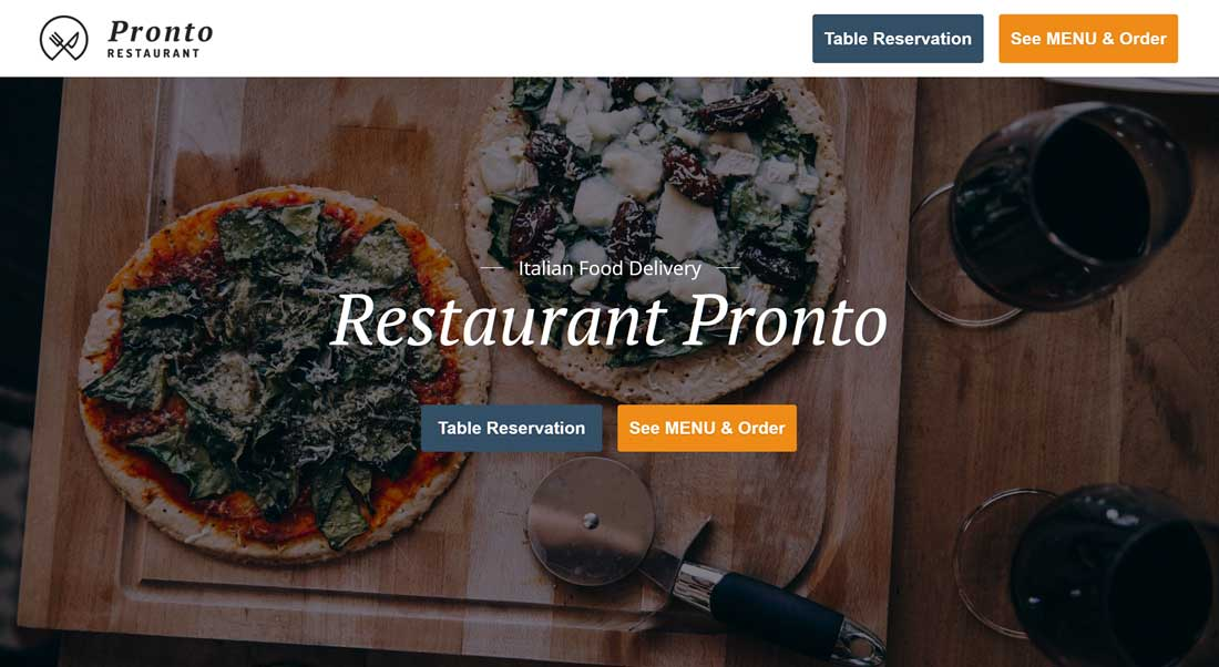 GloriaFood Restaurant Theme Review – Create A Restaurant Website For Free