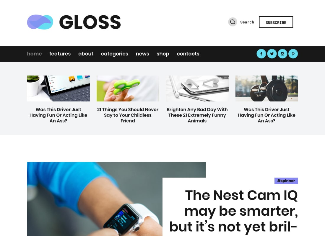 Gloss | Viral News Magazine WordPress Blog Theme