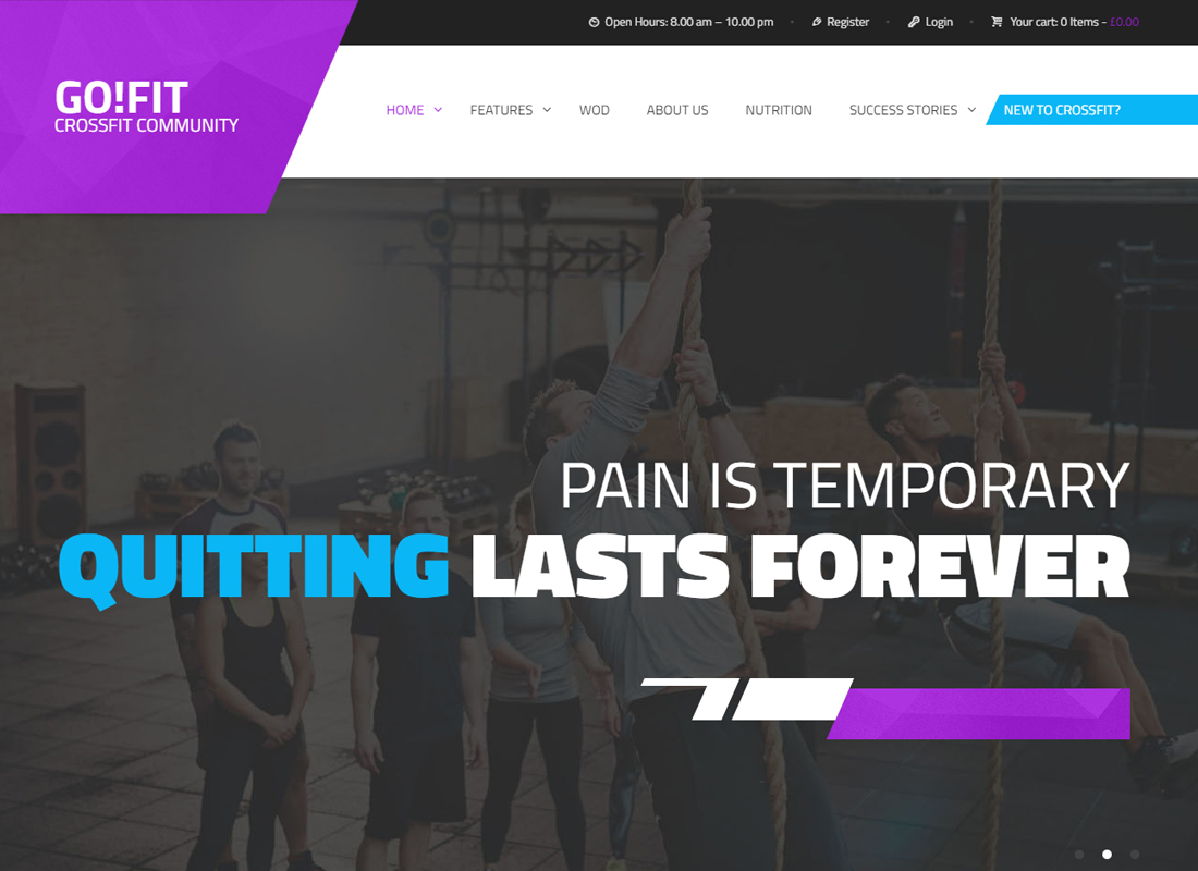 GoFit! | Fitness, Gym and Crossfit WordPress Theme