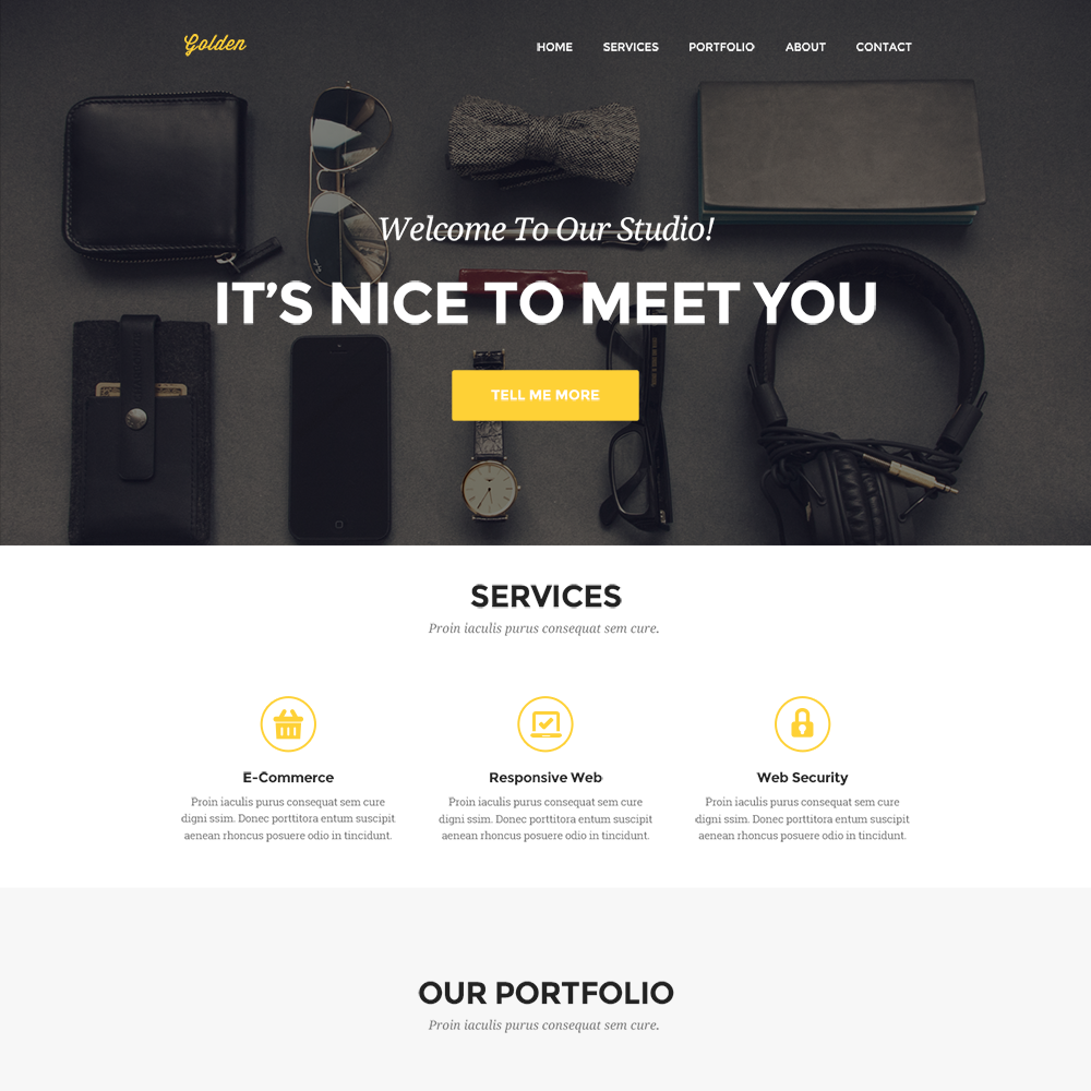 Free psd portfolio and resume website templates in 2018 for Free html portfolio templates