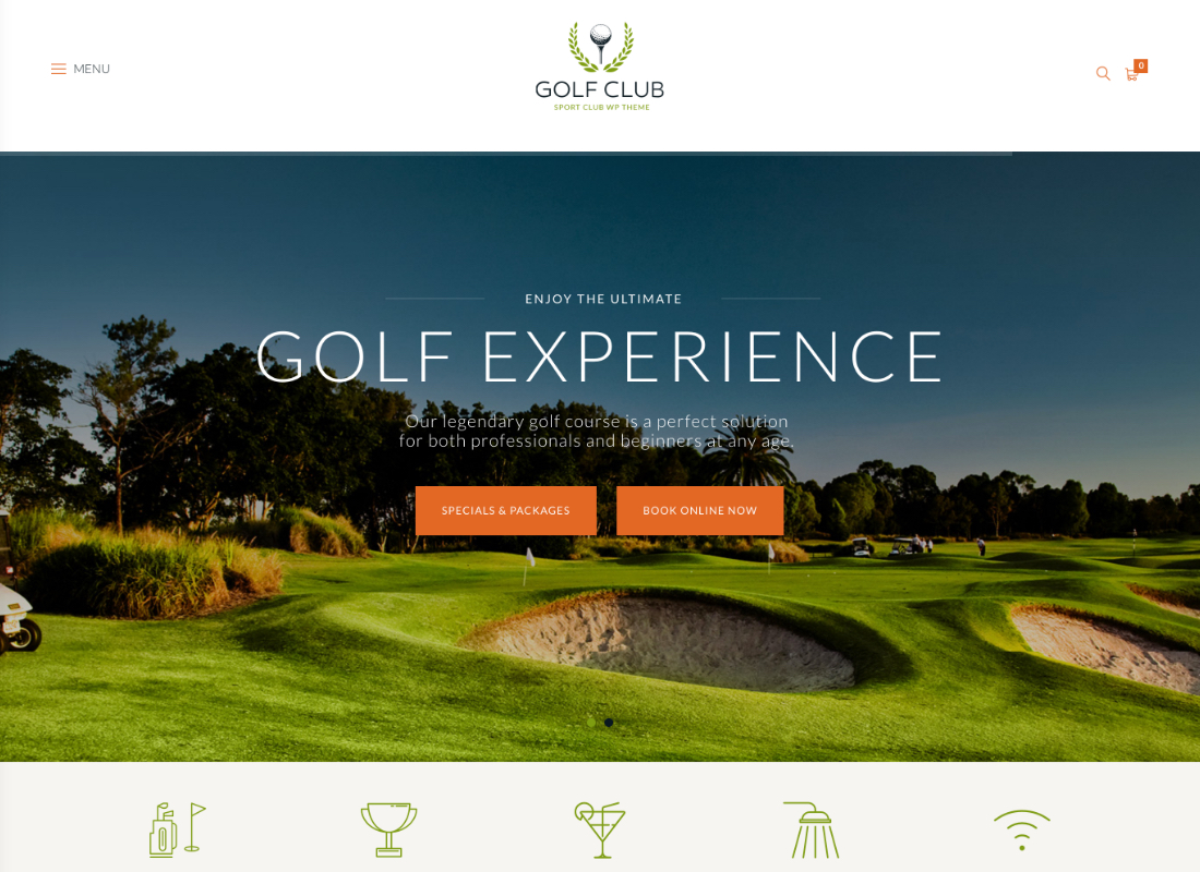 Golf Club | Sports & Events WordPress Theme