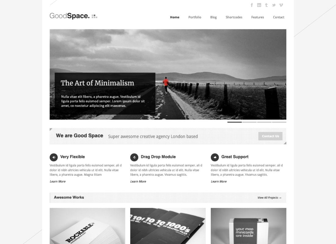 Good Space | Responsive Minimal WordPress Theme