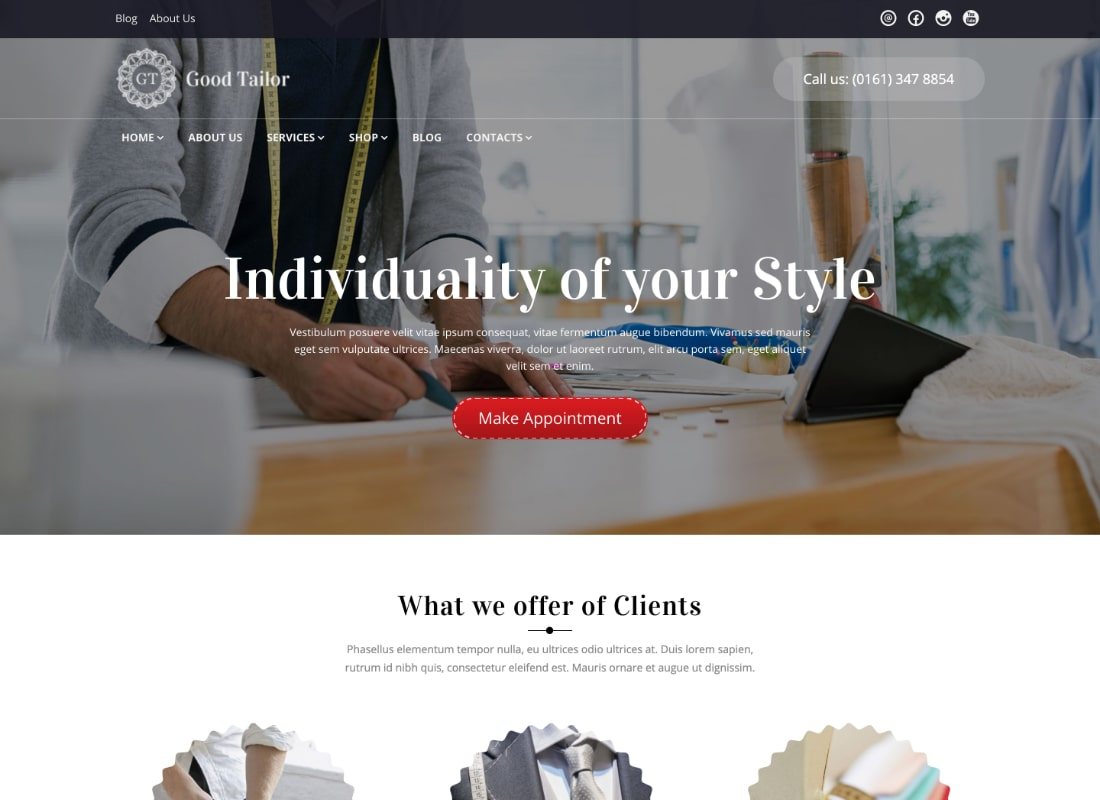 Good Tailor | Fashion & Tailoring Services WordPress Theme