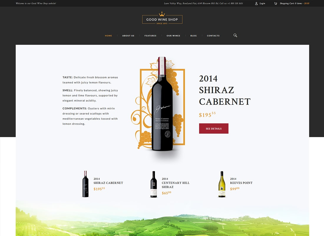 Good Wine | Wine House, Winery & Wine Shop Luxury WordPress Theme