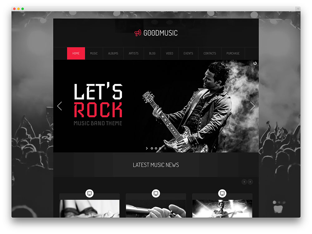 GoodDay Music Band WP theme