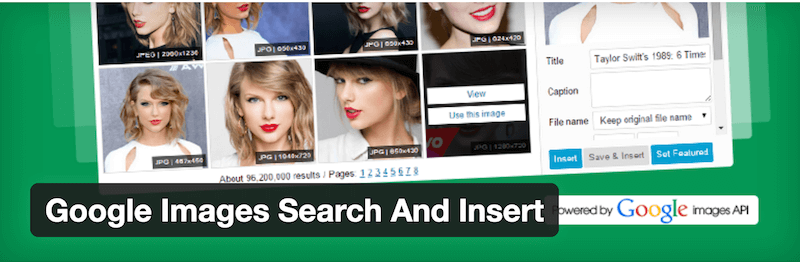 Google Images Search And Insert