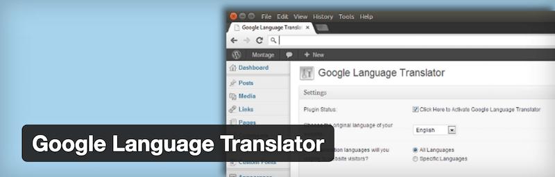 Traducteur de langue Google